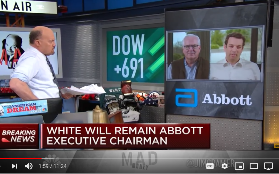 Miles White and Robert Ford Discuss Abbott's ID Now COVID-19 Test with Jim Cramer